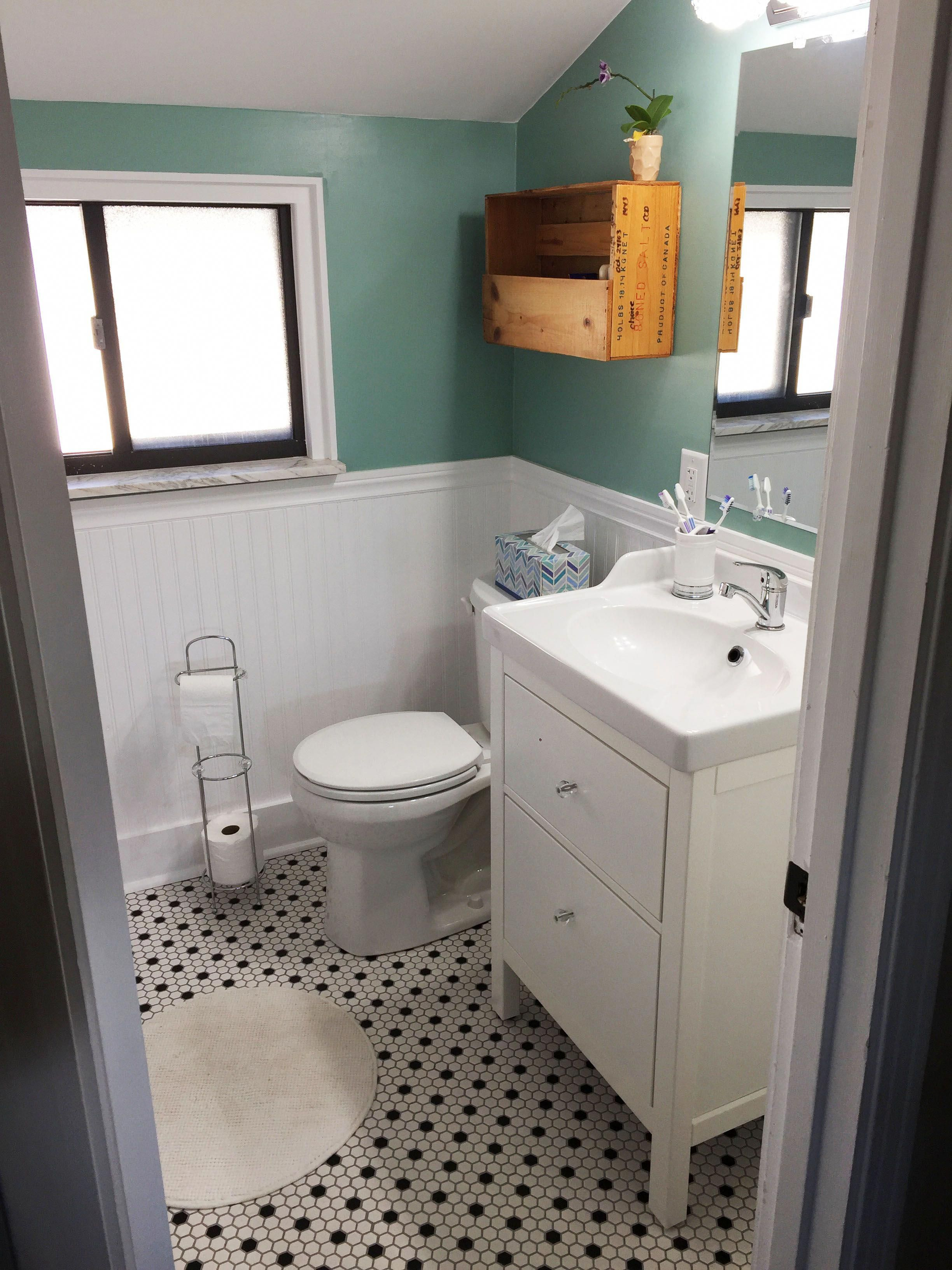2000 Dollar Bathroom Remodel Before And After Before After Bathroom Renovation Diy Bathroom Reno Diy Bathroom Bathroom Redo Interior Bathroom