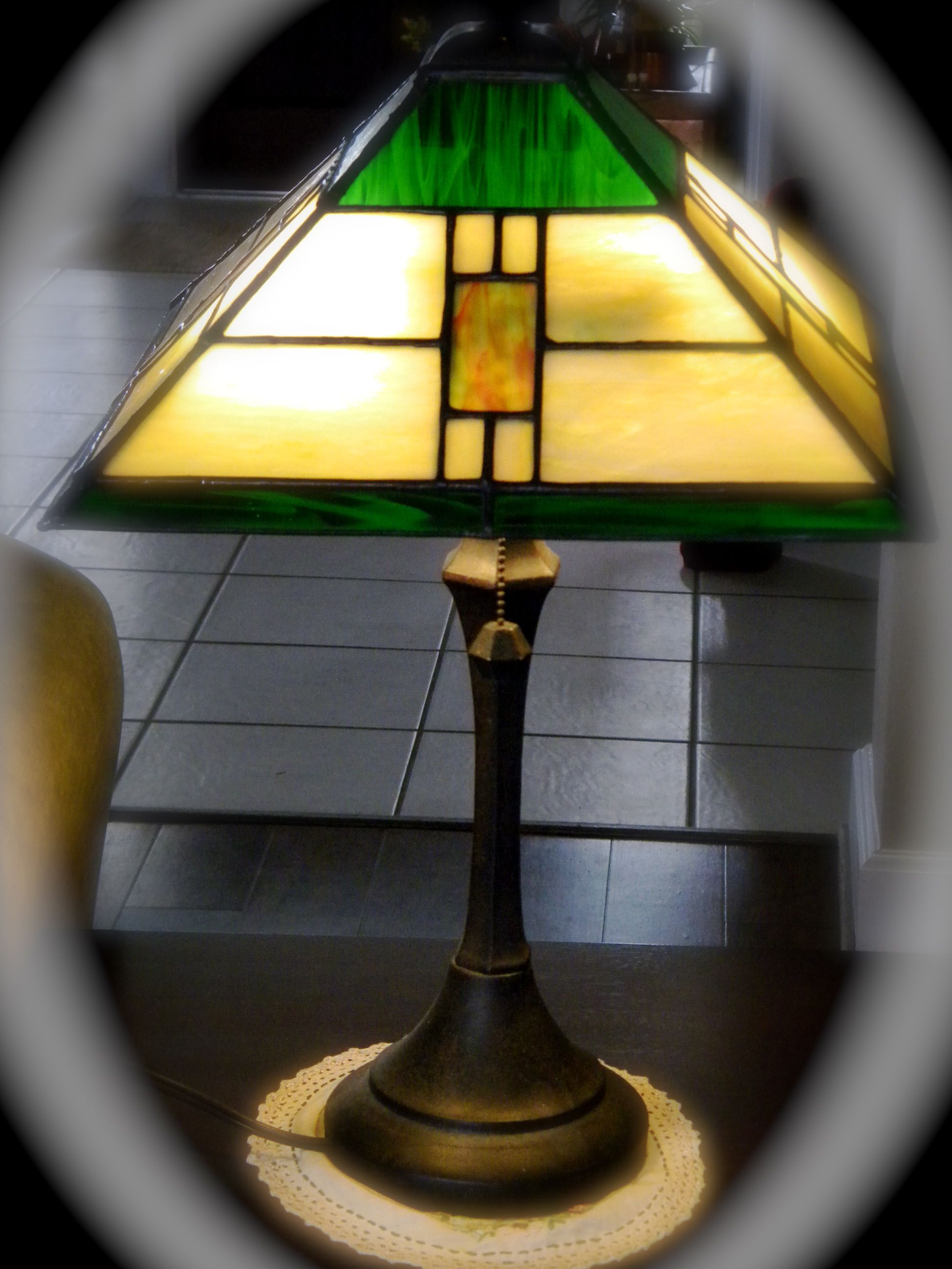 Prairie style lamp. | My Stained Glass in 2018 | Pinterest ...