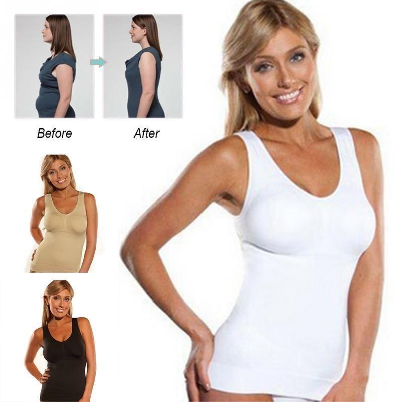 01204437d12d8 Women s Body Shaper Genie Bra ShapeWear Tank Top Slimming Camisole Spandex  Shirt Women s Body Shaper Genie Bra ShapeWear Tank Top Slimming Camisole  Spandex ...