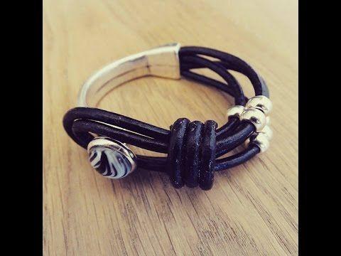 Sieraden maken met Kralenwinkel Online: Trendy leren armband maken - YouTube