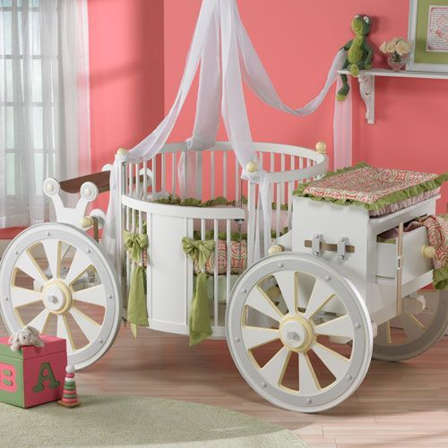 Baby S Rooms Pink And Green Fairy Tale Bedroom Crib