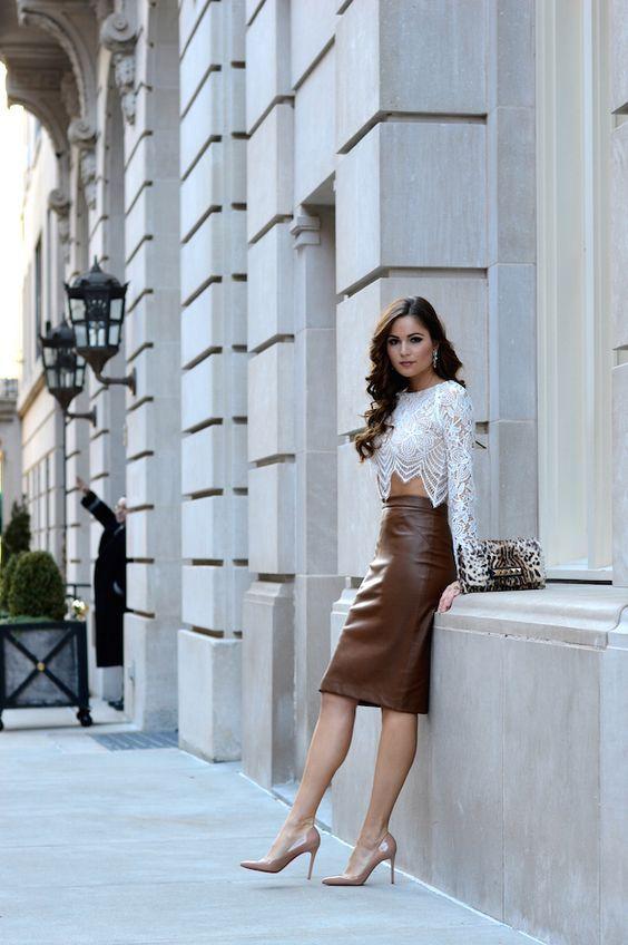 Pin by Melek Kazıcı on Leather | Pinterest | Leather skirt, Leather ...