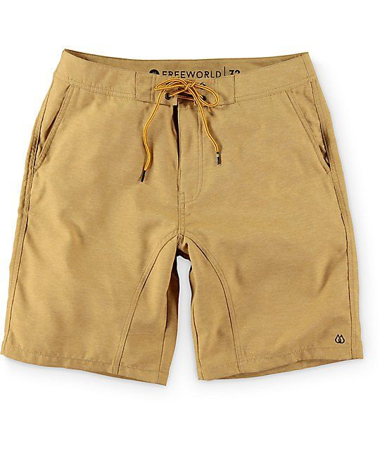 18e0c92b86 Blend your favorite boardies with your trustworthy chino shorts with the  hybrid design of the Free World Surfrider shorts. Get the best of both  worlds with ...