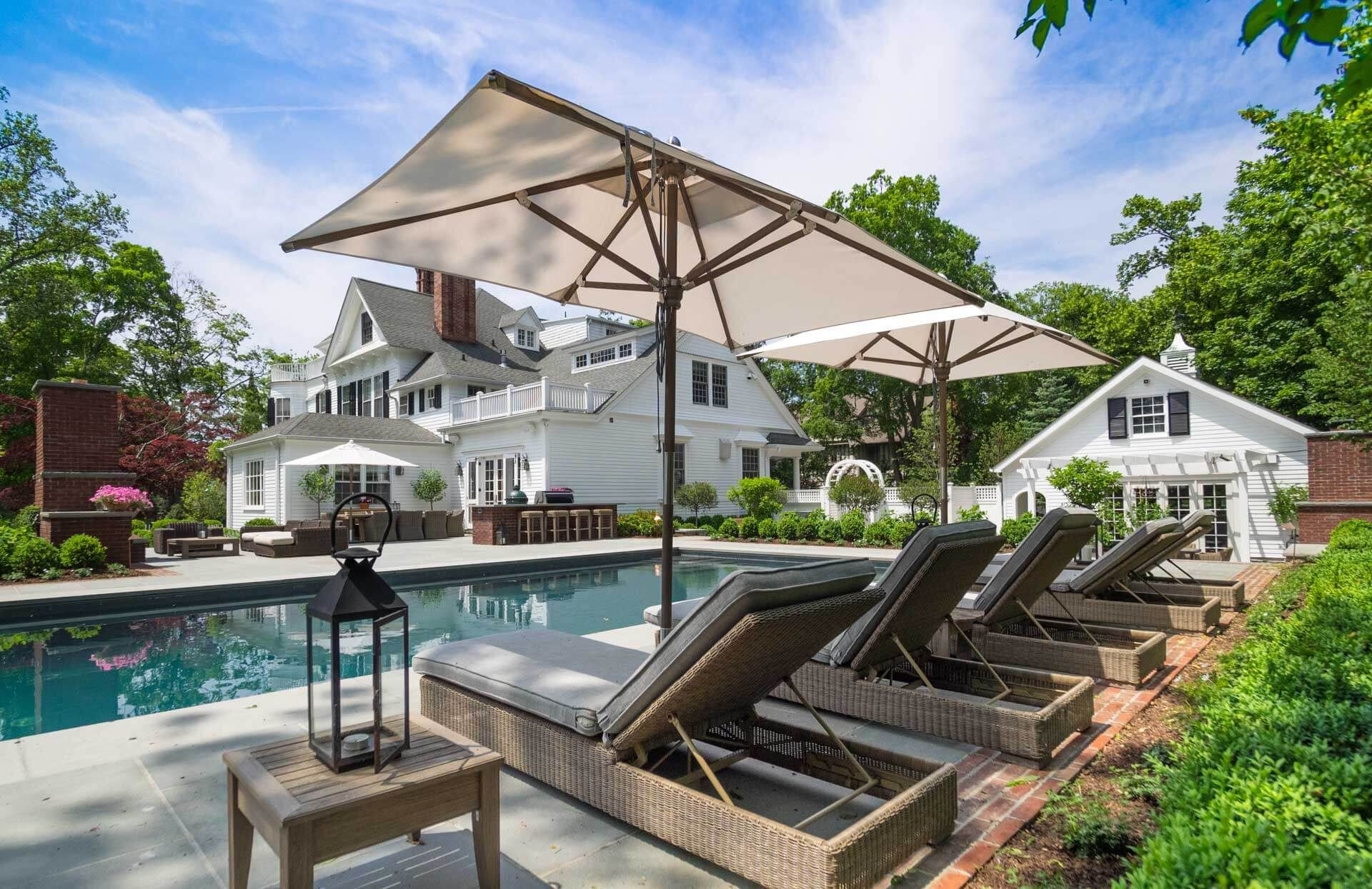 Historic Home Pool And Landscape Pool Houses Historic Home House Exterior