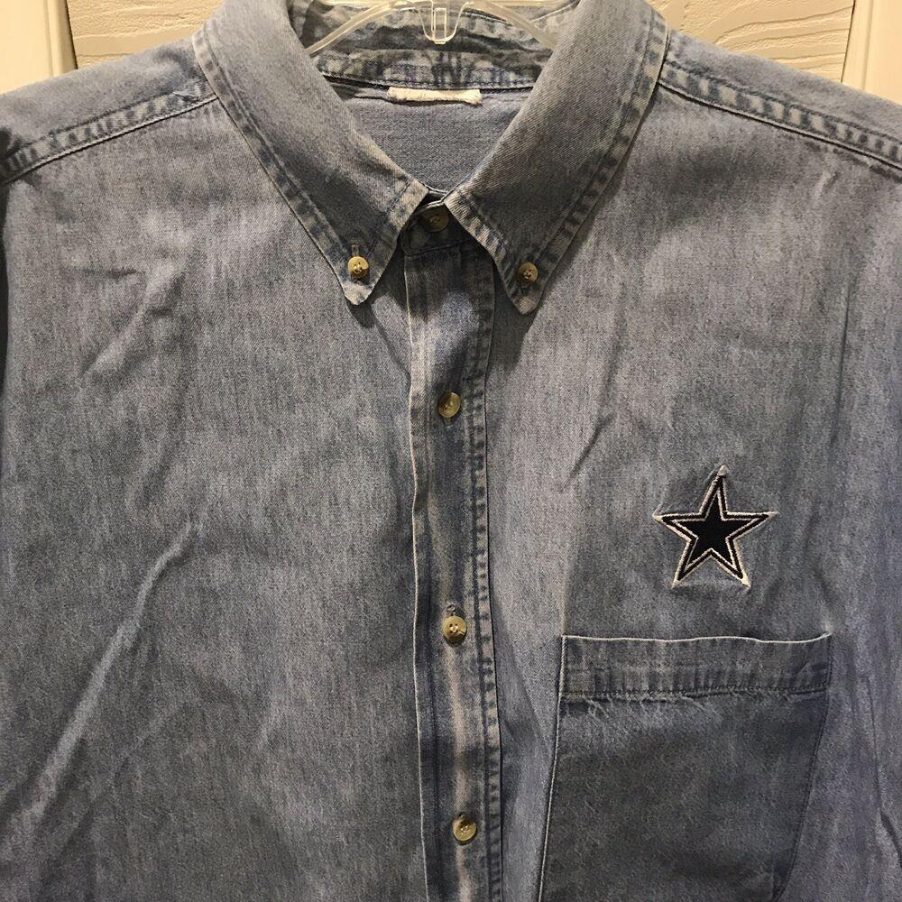 dallas cowboys denim shirt