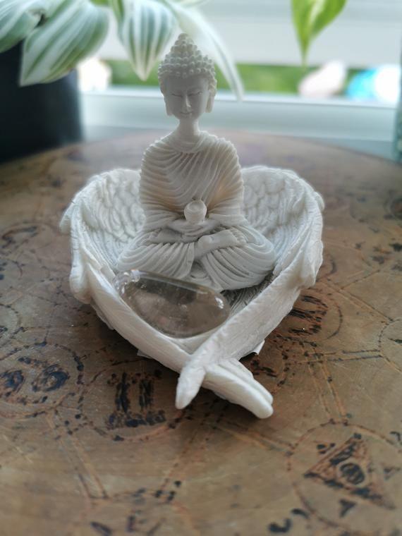 Buddha angel wing crystal spiritial gift set home decor altar set #buddhadecor