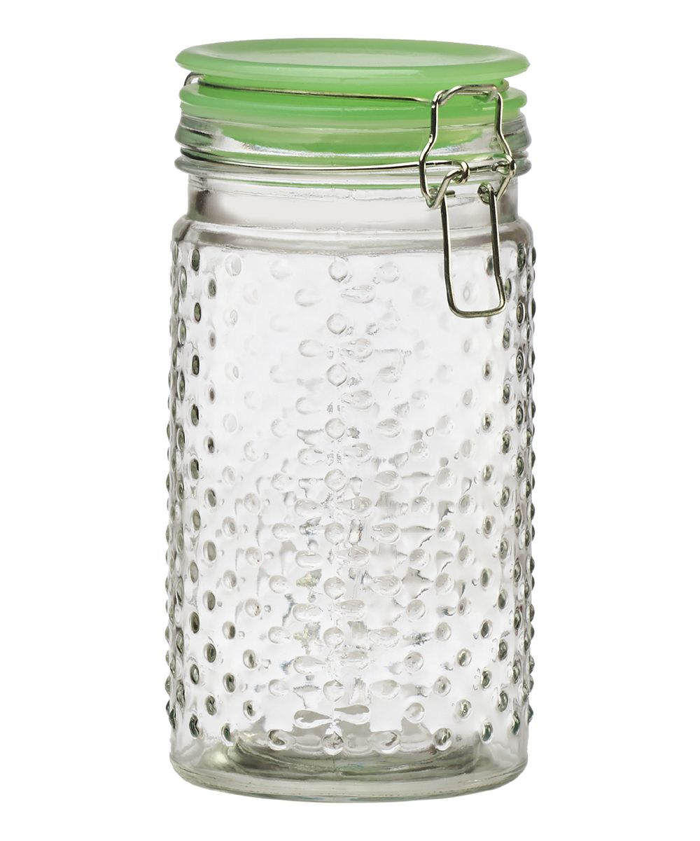 Kitchen canisters glass  Oz Emma Hobnail Jade Canister  Products