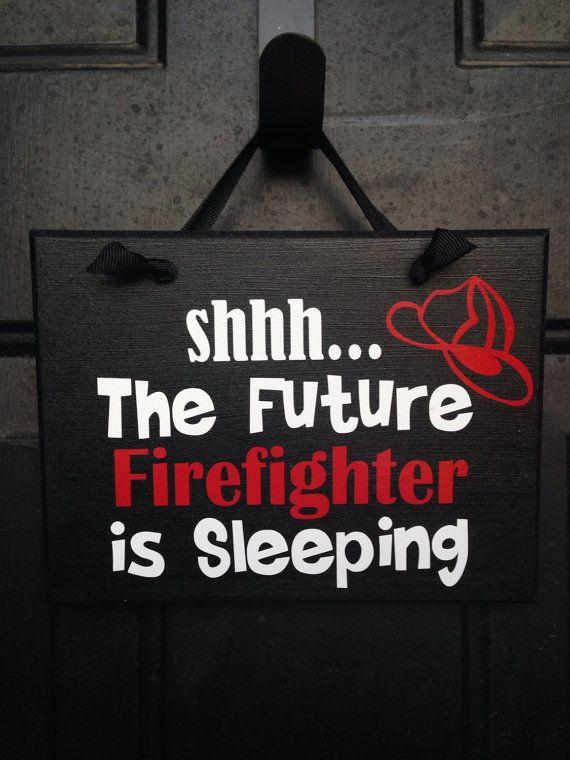 Future Firefighter Sleeping Sign Baby Boy Sleeping Sign Boy