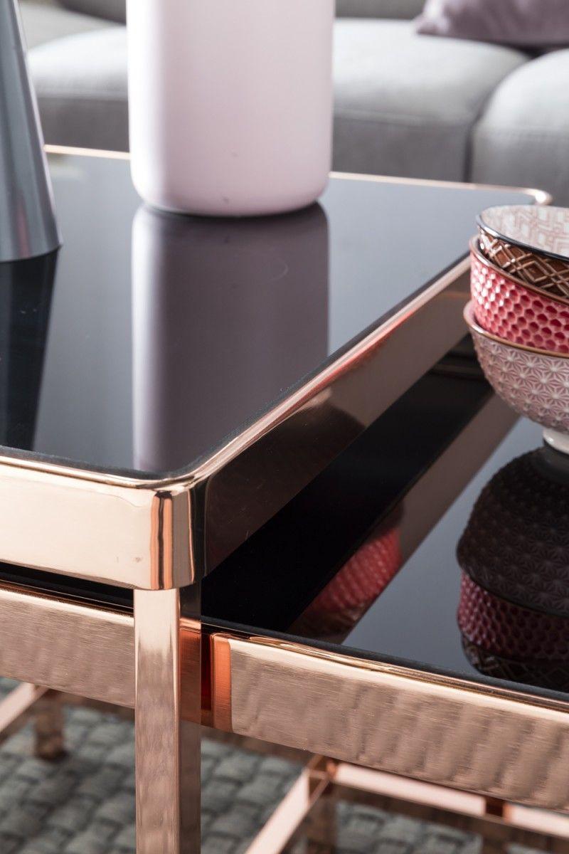 Wohnling 2er Set Satztisch Wl5 246 Aus Glas Mit Kupfer Gestell Wohnzimmer Kupfer Glas Modern Design Dekoration Flur Ecki Mit Bildern Satztische Glas Beistelltisch