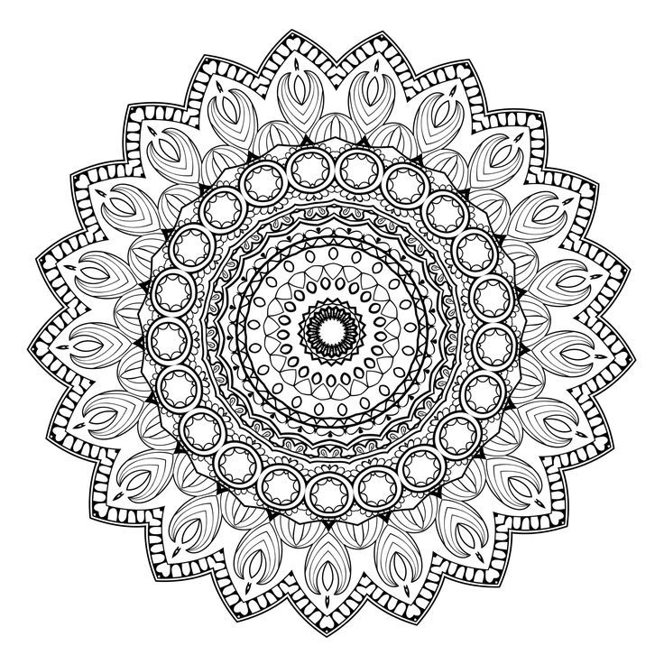 Color Yourself Calm With These 20 FREE Printable Mandala Templates Including Pages For Both Beginners And Those Advanced In Coloring