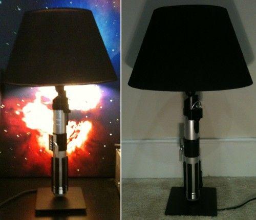 DIY Star Wars Lightsaber Lamp   Offbeat Mama