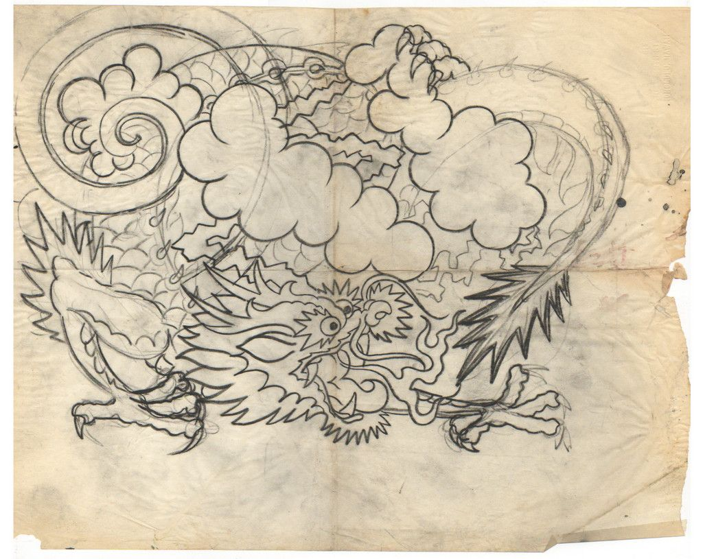 Sailor Jerry Dragon Sketch | Bocetos | Pinterest ...
