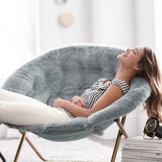 Iced Faux Fur With Gold Base Hang A Round Pbteen Bean