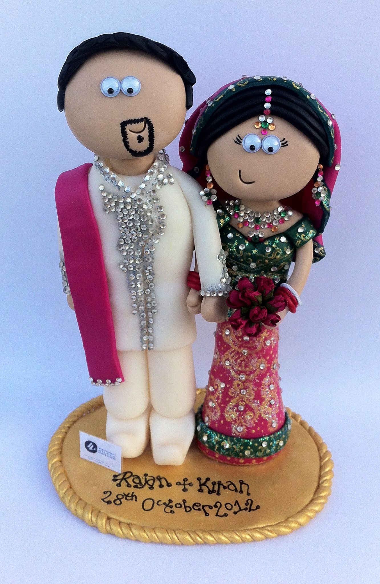 Another Very Detailed Asian Cake Topper I Make Them In Any Outfits Poses You Indian Wedding