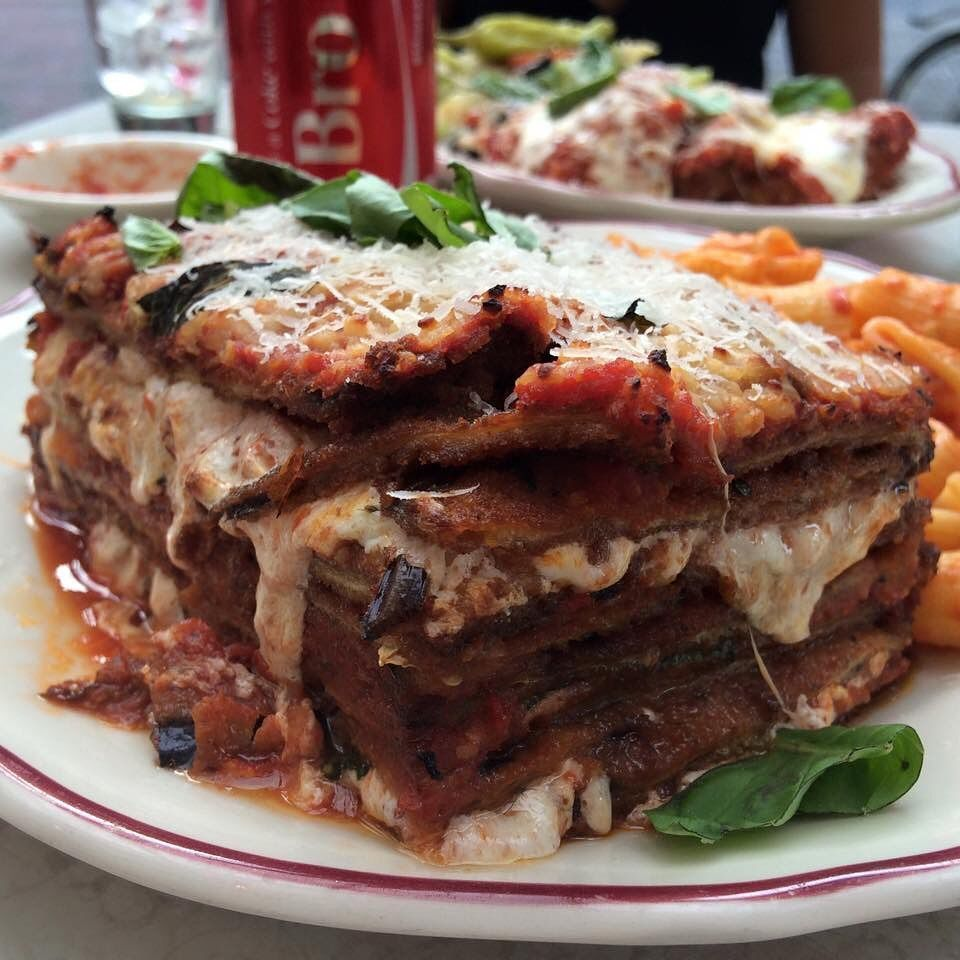 The perfect eggplant parm stack does exist . . . . . #food #foodporn #eggplant #eggplantparm #delicious #parm
