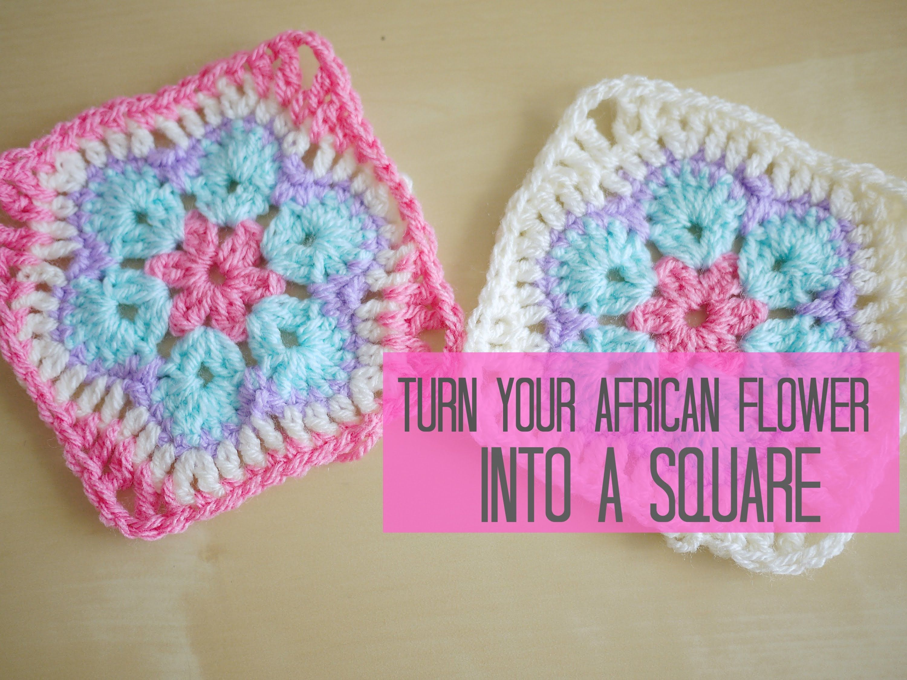 Diy crochet 6 petal puff stitch flower blanket - Crochet African Flower Into A Square Tutorial Bella Coco