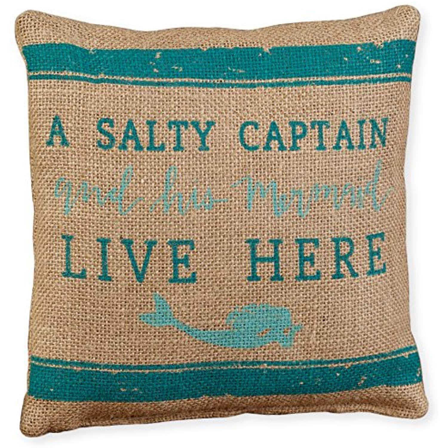 The Country House Collection Small Burlap Pillow 8 X 8 Captain Mermaid Find Out More About The Great Product At The Image Link T Burlap Pillows Decorative Pillows Pillows