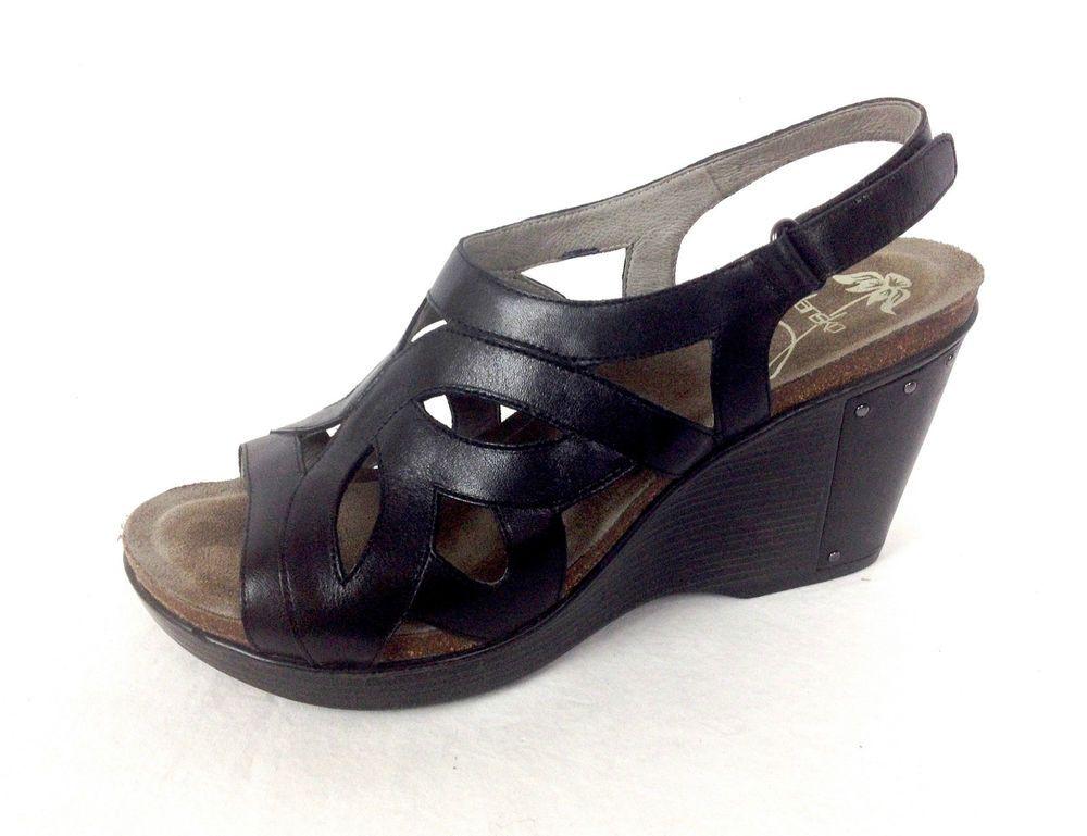 Dansko Shoes Womens Black Leather Wedge