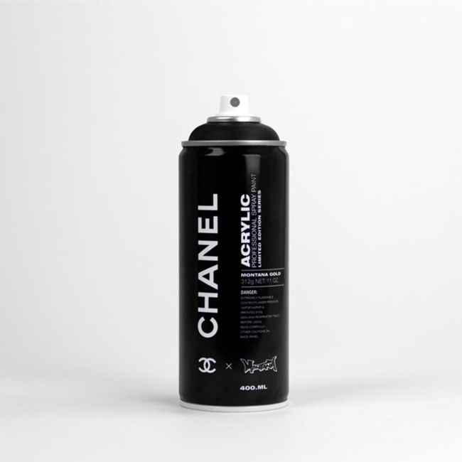 Chanel Black Spray Paint Brand Concept Art Design Packaging Product Design Logo Target