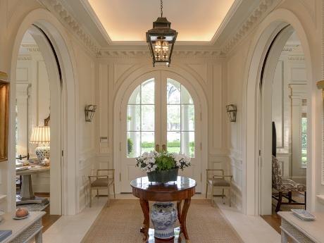 Beautiful white entry way