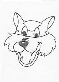 Actividades Para Ninos De Primaria Cuento Caperucita Roja Buscar Con Google Mascara De Lobo Mascara De Animales Careta De Lobo