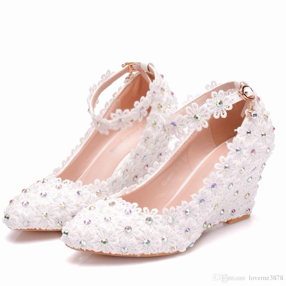Dress Shoes Comfortable Wedding Shoes Luxury White Flower Woman
