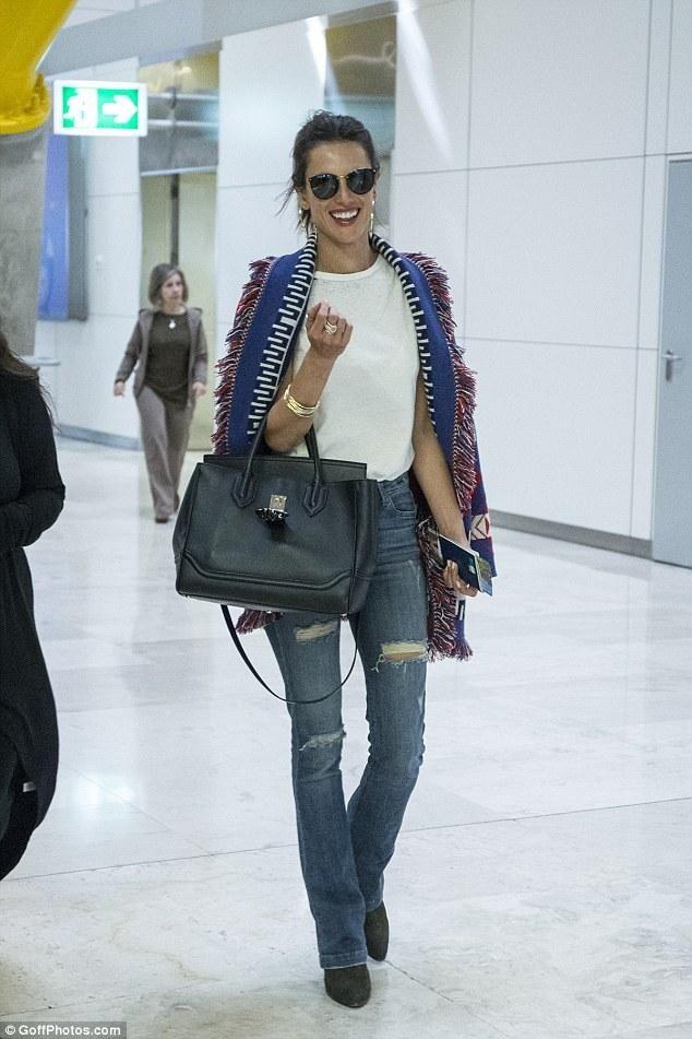 Alessandra Ambrosio wearing Hart Denim Nina High Rise Skinny Flare Jeans 246f0e4c0cc0e