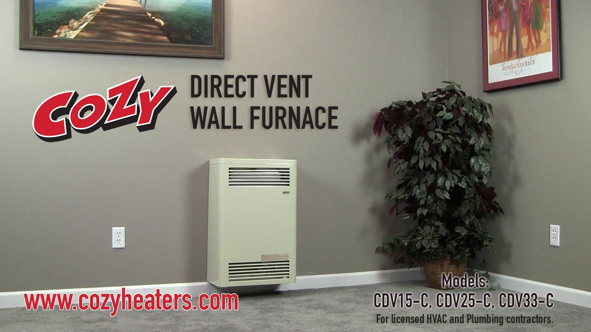Direct Vent Wall Furnace Cdv Install This Video Is For Licensed Hvac And Plumbing Contractors Only The Cozy D Wall Furnace Installation Furnace Installation