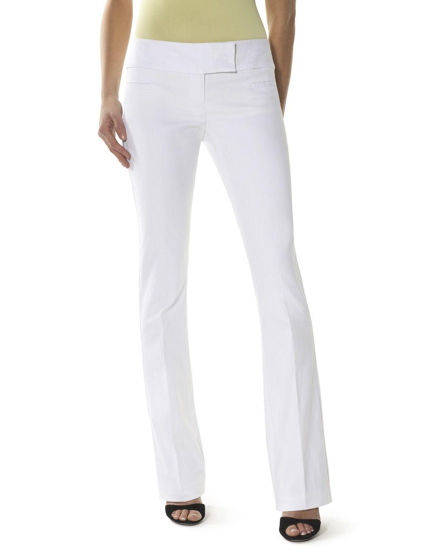 Crisp white dress them up or down bootcut pants