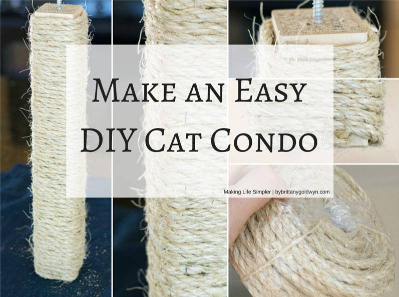 how to make cat condo tree
