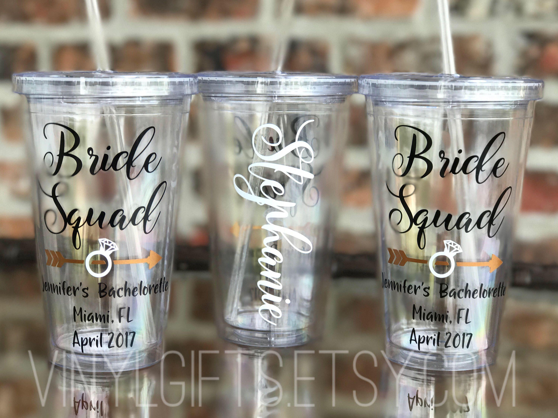 bridesmaid cup custom name tumbler bridal party cups Squad Tumbler bridal party tumblers Bridesmaid Tumblers bridesmaid tumbler