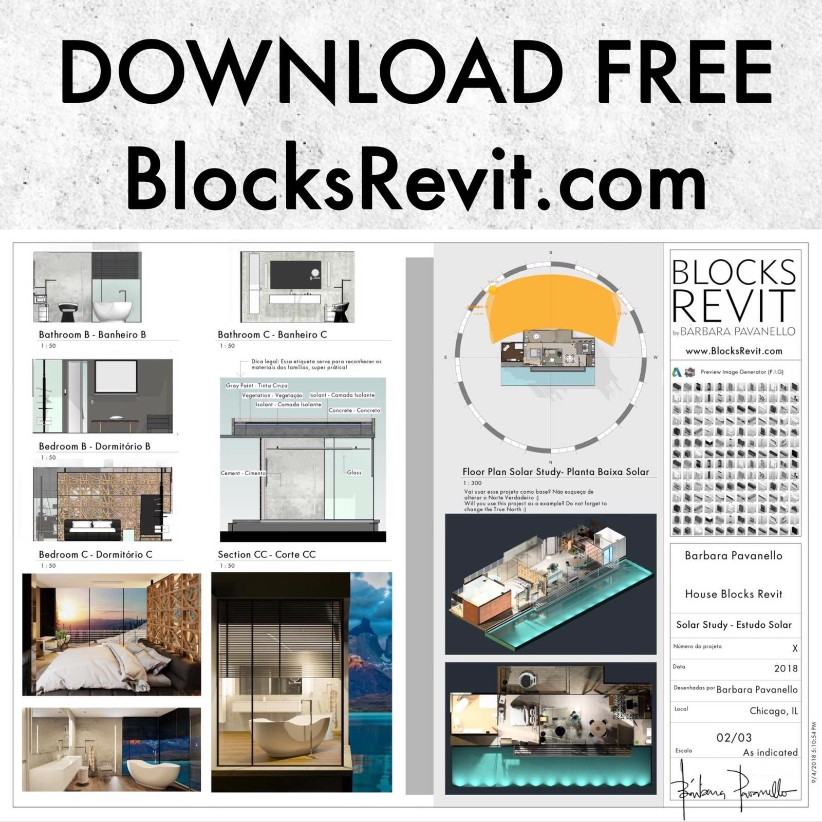 Revit Project Available for Free Download! ✓ RVT project, ✓ RFA
