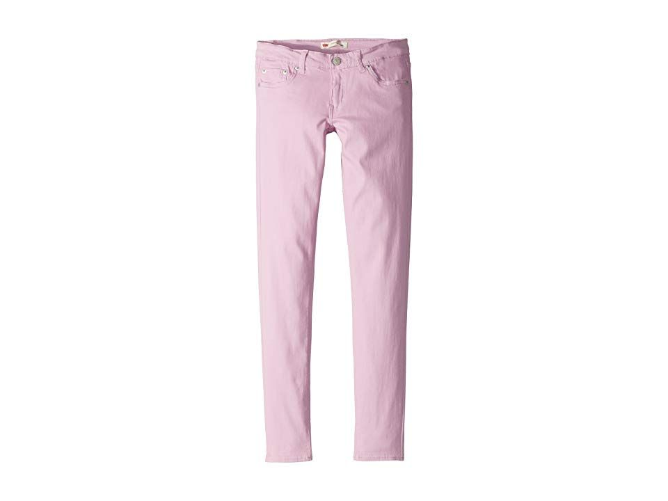 Levisr Kids 710 Brushed Twill Super Skinny Jeans Big Kids Pink Lavender Girls Jeans Take your look from every day to showstopper in the Levis 710 Legging 710 jean legging...