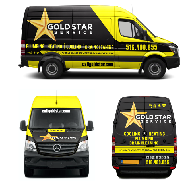 Fortune 100 Home Service Truck Wrap By Dhuhayu88 Plumbing Logo
