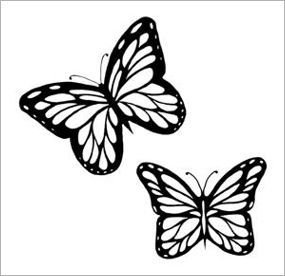 Triple Butterfly Glitter Tattoo Stencil 5 Pack Face Butterfly Tattoo Stencil In 2020 Vintage Butterfly Tattoo Butterfly Tattoo Stencil Glitter Tattoo Stencils