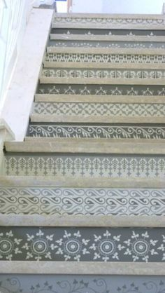 Rockez vos escaliers avec du papier peint ! - POM & GUS | Imitation ...