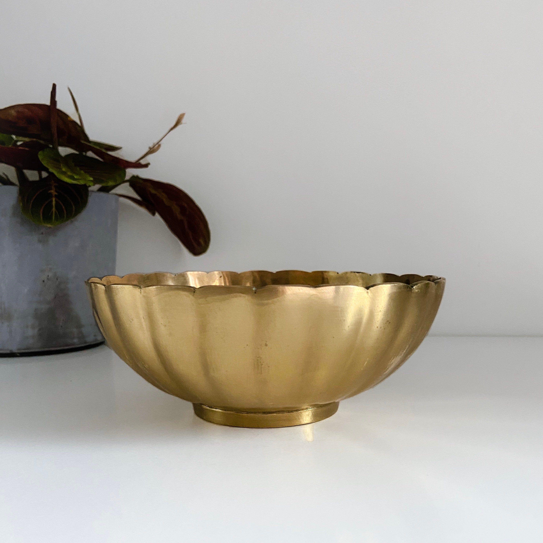 Brass Bowl Vintage Mid Century