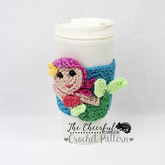 Crochet Pattern - Mermaid Crochet Pattern - Coffee Cozy Pattern ...