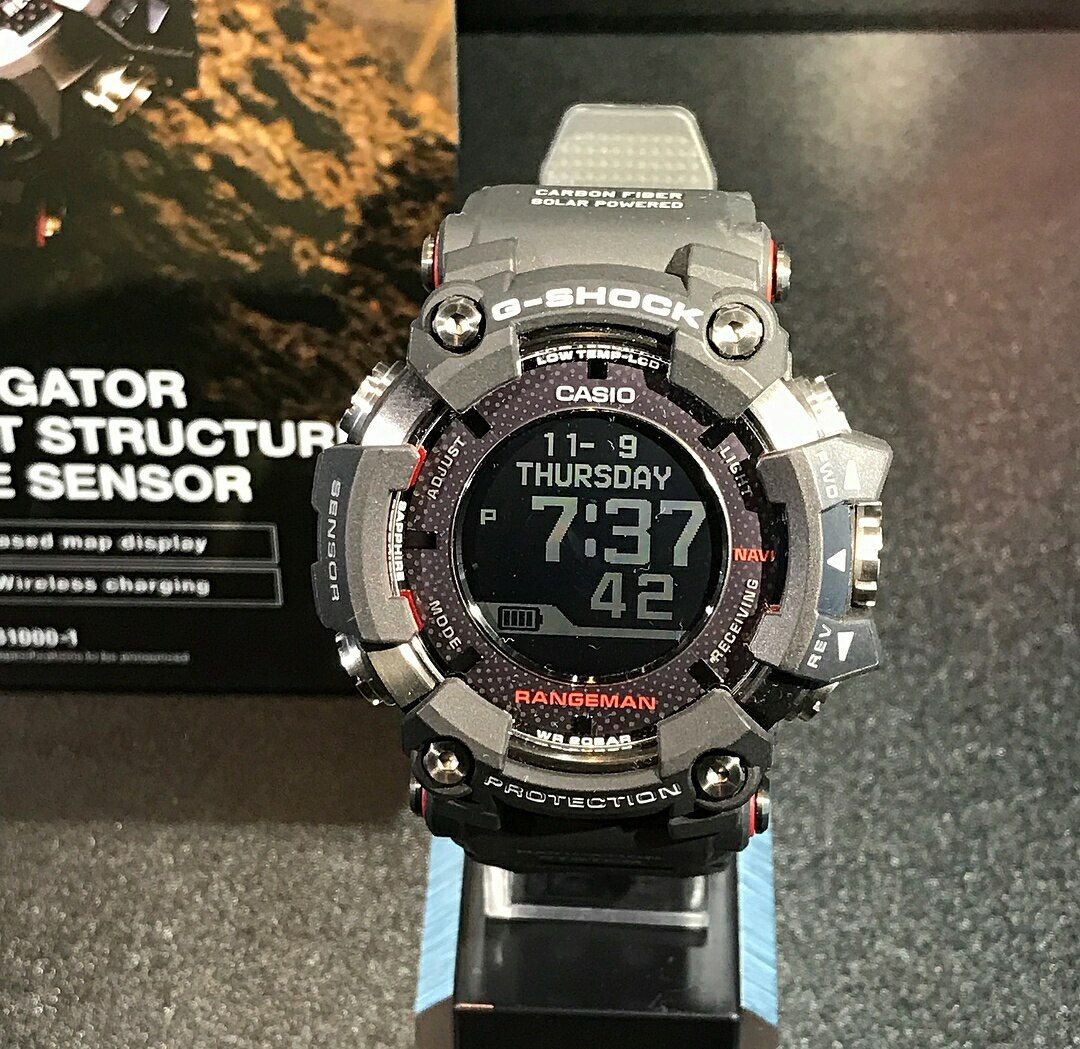 G Shock Rangeman Gpr B1000 1 With Gps And And Low Temp Lcd G Shock Watches Mens G Shock G Shock Watches