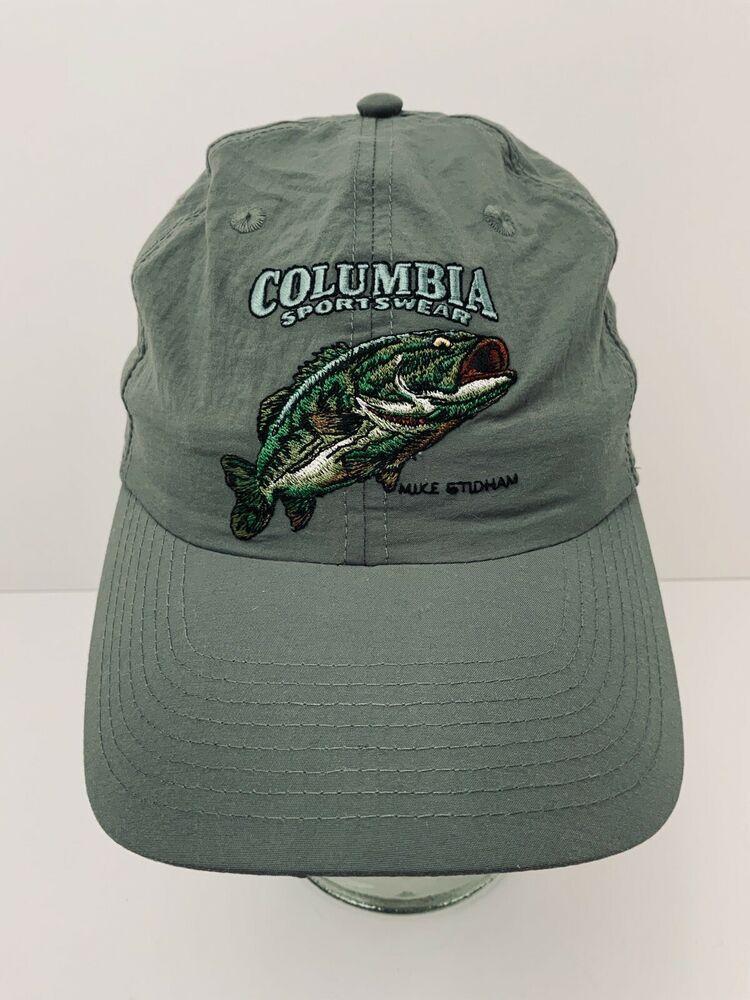 Columbia Sportswear Hat Fish Logo Mike Stidham Lightweight Olive Green Dad Cap Columbia Baseballcap Columbia Sportswear Lids Hat Sportswear Company