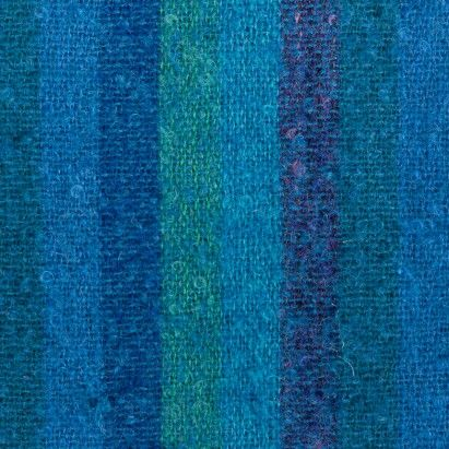 Blue/Green Awning Stripe Mohair Woven Fabric by the Yard | Mood Fabrics