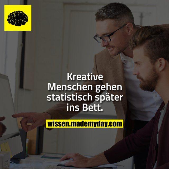Kreative Menschen gehen statistisch später  | Lustige