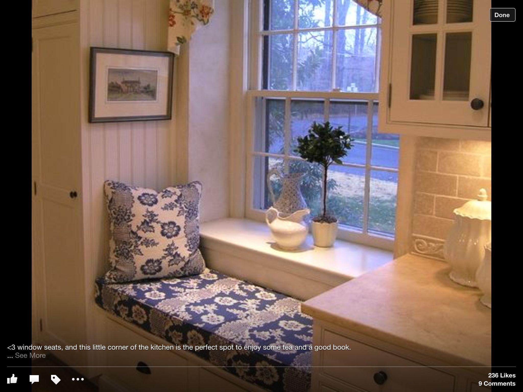 Kitchen window ledge  like the built in  home decor   pinterest