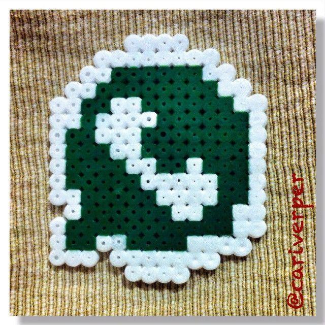 WhatsApp logo hama beads by cariverper Perler patterns