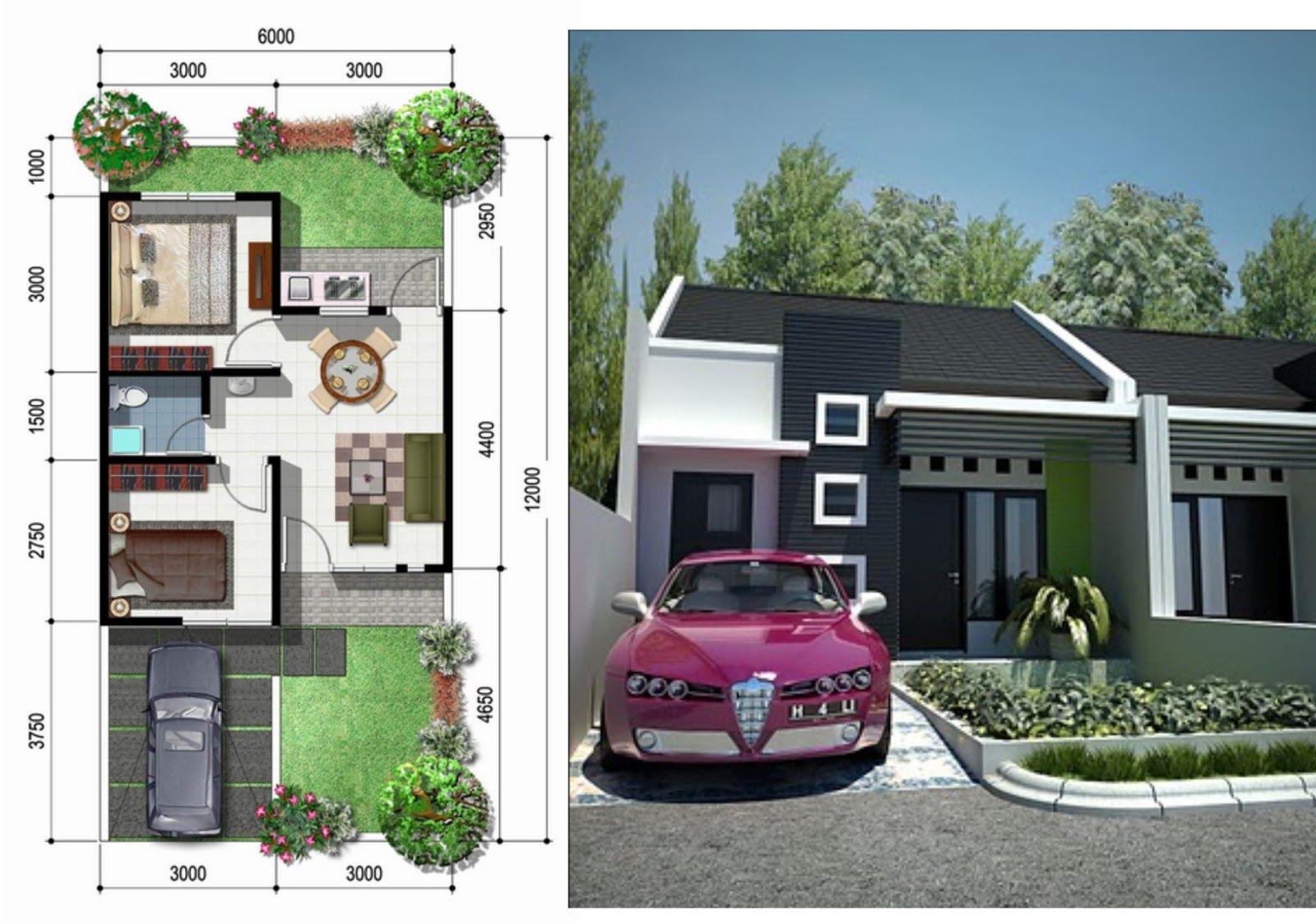 Desain Rumah Minimalis Type 36 Rumah Minimalis Type 36 Pinterest