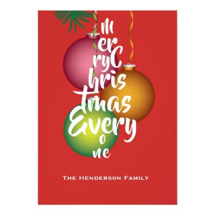 Merry christmas everyone with name card invitation ideas merry christmas everyone with name card m4hsunfo