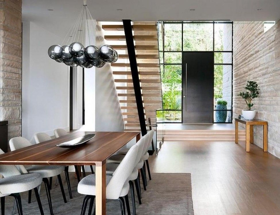 Large Dining Table Under The Stairs Case Design Ideaas And The
