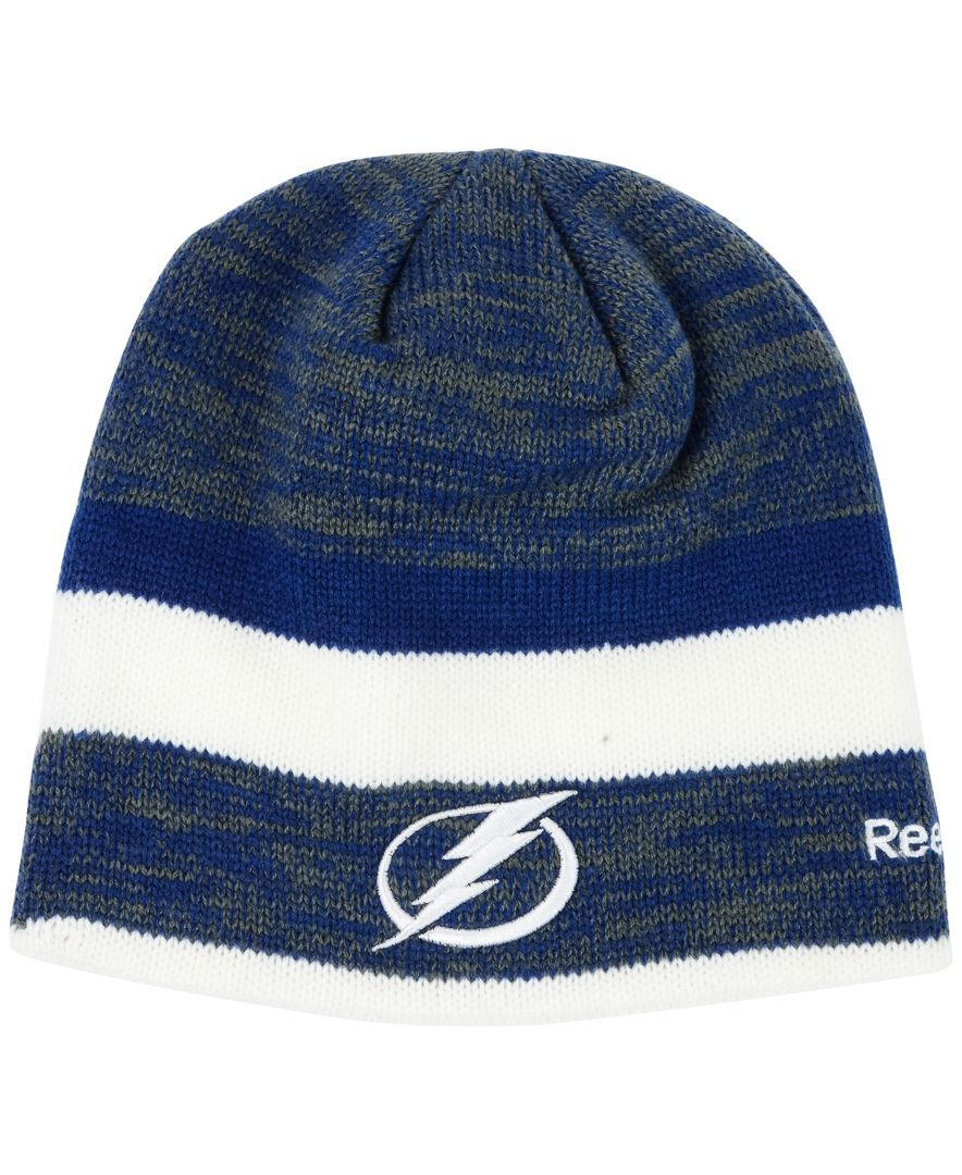 1d885b81207d4 authentic reebok tampa bay lightning player knit hat fdae2 52878
