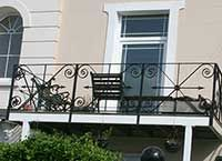 Balcony with balustrading made to match existing stairs.