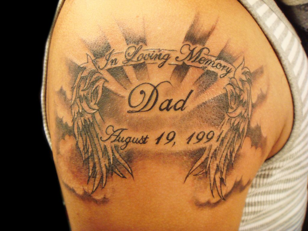 Tattoo Ideas Rip Dad: Memorial-tattoos-ideas-for-men-on-sleeve